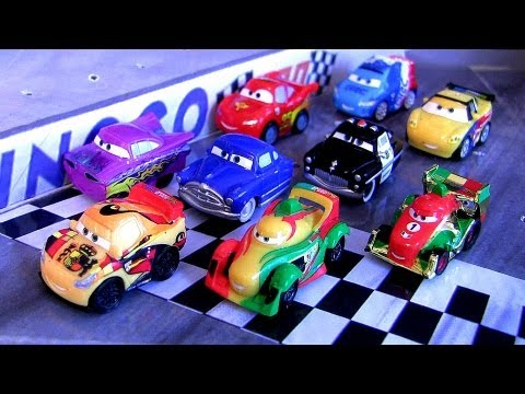 micro - From disney pixar cars 2, here we have 3 brand new packages of micro-drifters with rip clutchgoneski, miguel camino