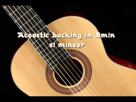 Acoustic guitar backing track in Bmin