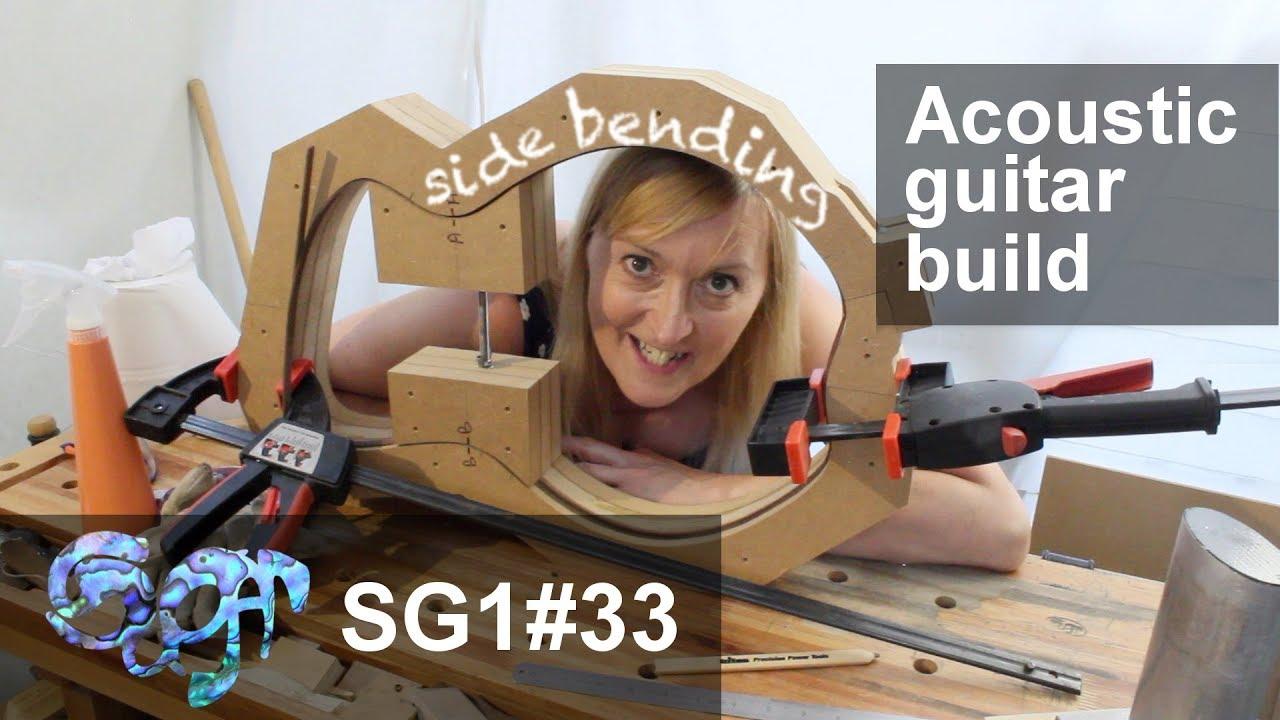 Sugar SG1 acoustic guitar build part 33: Side bending practise