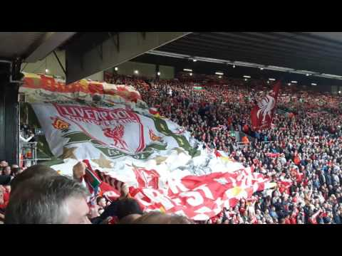 Liverpool V Hull City 24.9.16 YNWA Kop Flags