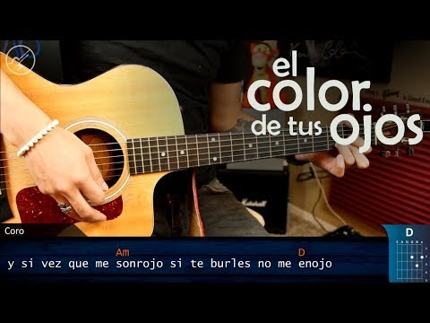Como Tocar El Color De Tus Ojos BANDA MS En Guitarra | Tutorial Christianvib