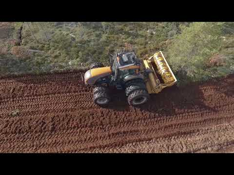Clearing New Peat Land MeriPeat MJK-350 DTG + Valtra