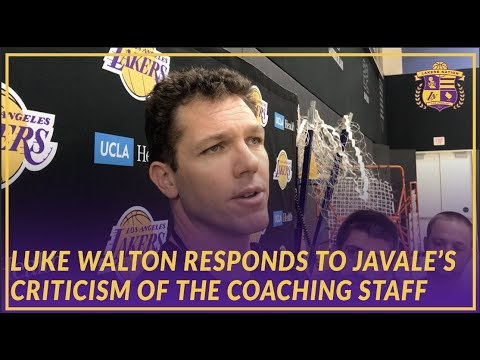 Video: Lakers Interview: Luke Walton Responds to JaVale McGee's Criticism of the Coaching Staff