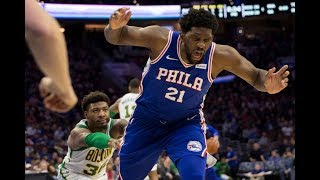 Marcus Smart Shoves Joel Embiid To The Ground, Gets Ejected In Philly