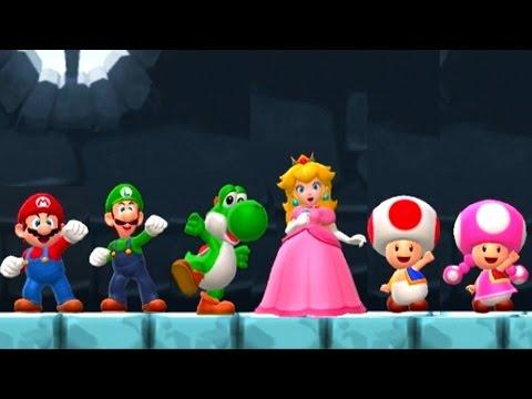 Super Mario Run - All Characters vs Bowser (видео)