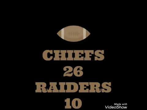 NFL Predictions Week 2 (Chiefs at Raiders)