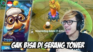 Video NEW HERO DIGGER GAK BISA DI SERANG TOWER ! - MOBILE LEGENDS INDONESIA MP3, 3GP, MP4, WEBM, AVI, FLV Oktober 2017