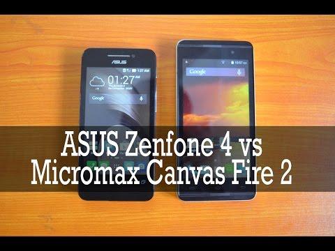 ASUS Zenfone 4 vs Micromax Canvas Fire 2 - Comparison