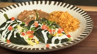 Corn & California Cheese Chile Rellenos by Tastemade