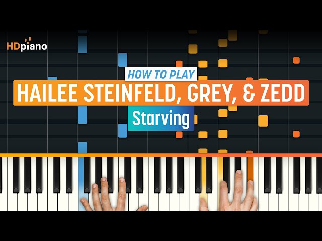 how to play starving on piano