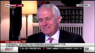 Prime Minister Turnbull speaking to David Speers on Sky News
