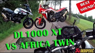 10. V-Strom 1000 XT 2017 (Akrapovic) vs Africa Twin?! - HQ Sound review!