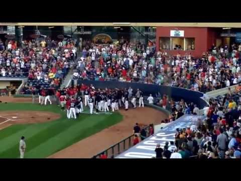 Brawl - Bench-clearing brawl between the Reno Aces and the Albuquerque Isotopes on 7/26/14.