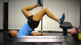 Exercise Index: Unilateral Glute Bridge with Feet on Bench
