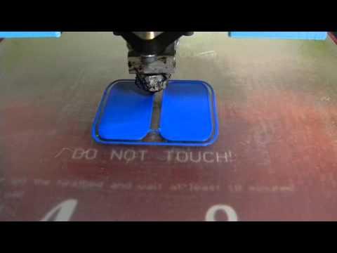 3D Printing Blue robot