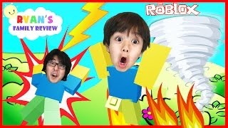 Family Game Night! Let's Play Roblox Natural Survival Disaster with Ryan's Family Review