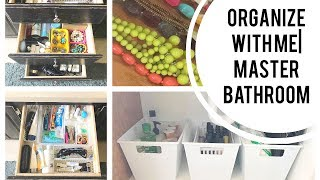 Organize With Me My Master Bathroom Cupboards and Drawers