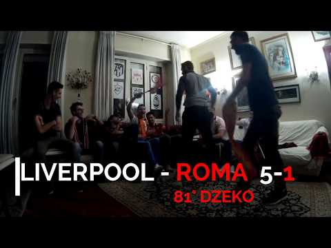 "Liverpool - ROMA 5-2 24/4/18 Live Goal Reaction ""Pedro And Friends"""