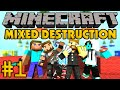 Minecraft Mixed Destruction #1 - Командное PVP