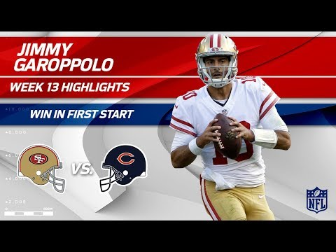 Video: Jimmy Garoppolo Gets the Win in First Start as a 49er! | 49ers vs. Bears | Wk 13 Player Highlights