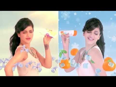 Navratna Cool Talc Orangy Blast Shruti Haasan Film