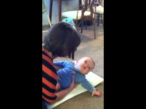 One tip for helping baby learn to roll