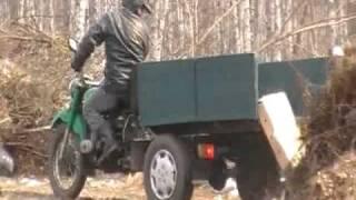 Самодельный самосвальный трицикл. .avi