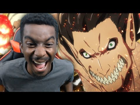 EREN VS ROD REISS TITAN! Attack on Titan Season 3 LIVE REACTION! Episode 9 (видео)