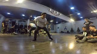 Jordan – popping solo after workshop in Hanoi