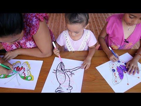 Cara Menggambar Dan Mewarnai Bebek Lucu Buat Persiapan Lomba Gambar