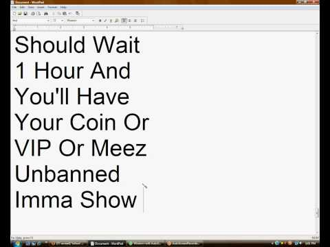 How To Get Your Meez Unbanned & Unlimited Coins & VIP