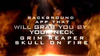 Grim Reaper Skull on Fire LWP YouTube video