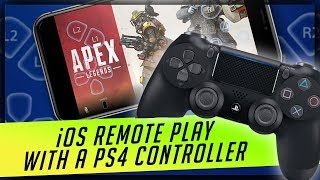 How to Use PS4 Bluetooth Dualshock Controller with iOS Remote Play App for iPhones and iPads