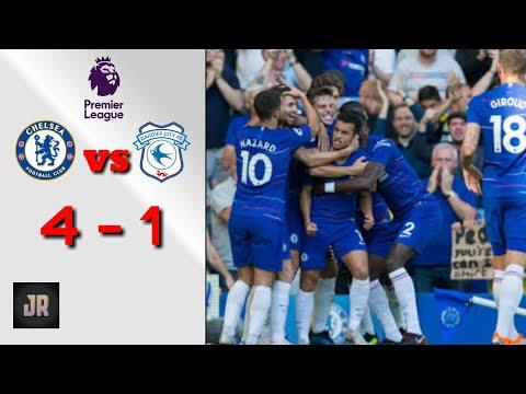 Chelasea vs Cardiff City 4 - 1 | pertandingan tadi malam Highlights & goals 2018