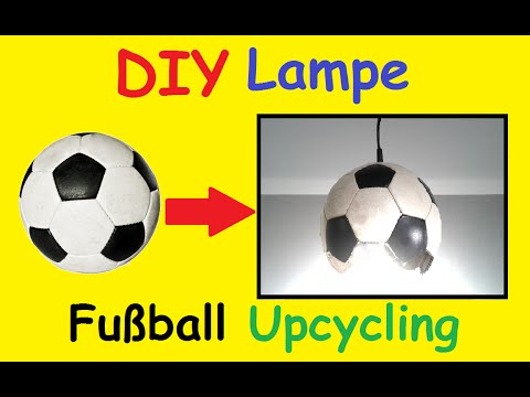 DIY Fussball Lampe selber machen - Kinderzimmer EM 2016 Fußball Deko basteln  Deutschland Fanartikel