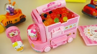 Hello Kitty orbeez food car Pororo car toys with baby doll play