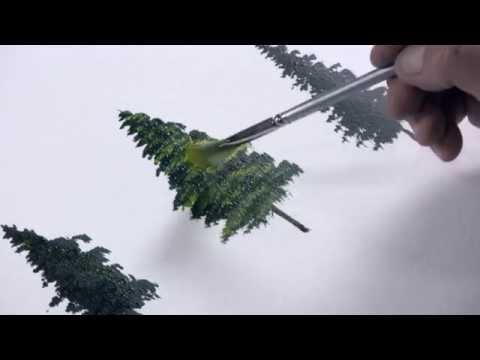Acrylmalerei – Einen Tannenbaum malen mit Dietmanns Maltechnik