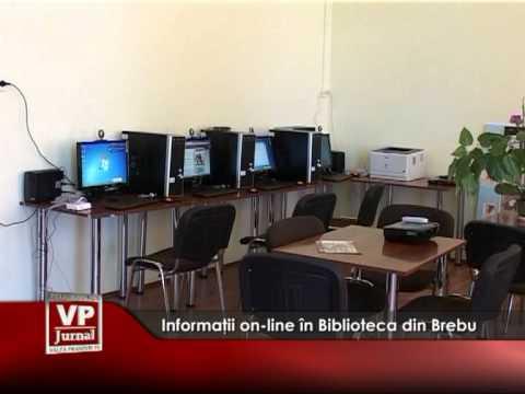 Informaţii on-line în Biblioteca din Brebu