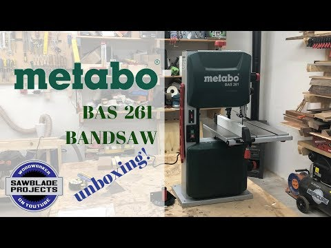 METABO BAS 261 BANDSAW -    unboxing and first look