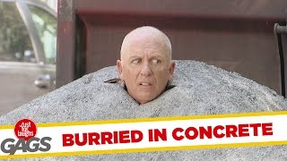 Buried in Concrete Prank