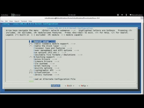 how to kernel compile in linux
