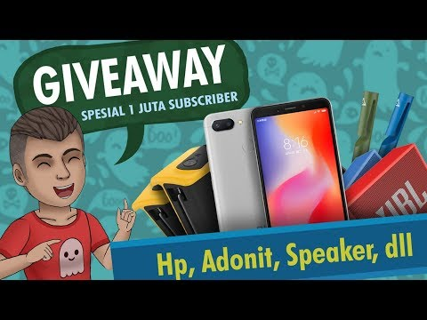 GIVEAWAY & FACE REVEAL RIZKY RIPLAY?? Spesial 1 juta subscriber | HP, Adonit, Speaker - Kartun Lucu