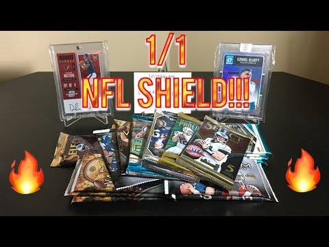 Random Football Card Hobby Pack Opening - ONE OF ONE NFL SHIELD! KABOOM!