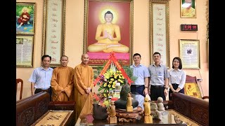 Chủ tịch UBND Thành phố Nguyễn Mạnh Hà chúc mừng Đại lễ Phật đản