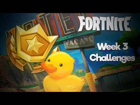 Location of the Rubber Duckies and Treasure Map / Week 3 Challenges / Fortnite (BR)