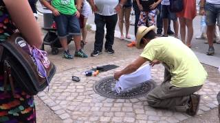T-Shirt printed from a Manhole Cover - only in Berlin