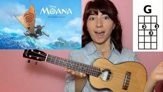 Video How Far I'll Go Moana (Ukulele Tutorial) download in MP3, 3GP, MP4, WEBM, AVI, FLV Mei 2017