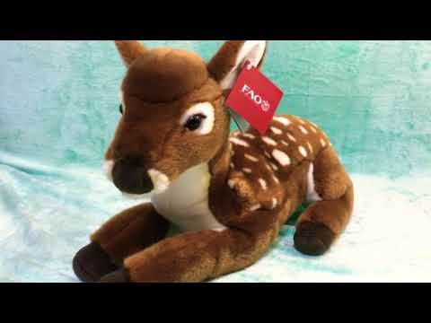 Close Up Look at the 2015 FAO Schwarz Deer Fawn Stuffed Plush Toy