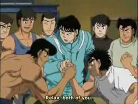 Ippo vs Kimura aoki and takamura arm wresteling