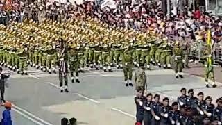 Perbarisan hari kebangsaan 2017 ke - 60 kontinjen jabatan sukarelawan Malaysia (RELA)
